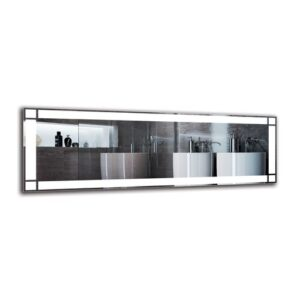 Yesayi Bathroom Mirror Metro Lane Size: 50cm H x 150cm W