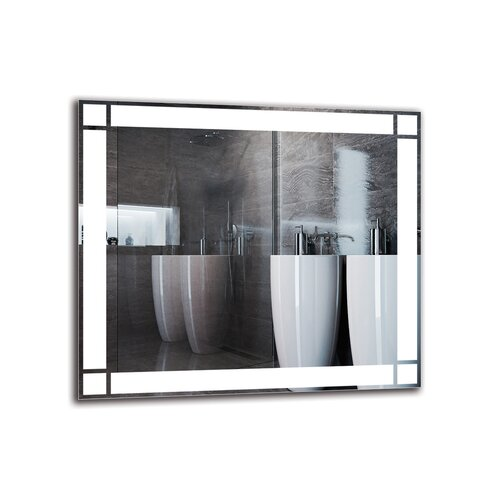 Yesayi Bathroom Mirror Metro Lane Size: 70cm H x 80cm W