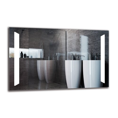 Zareh Bathroom Mirror Metro Lane Size: 70cm H x 110cm W