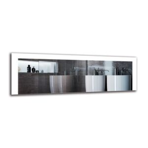 Zarmig Bathroom Mirror Metro Lane Size: 40cm H x 120cm W