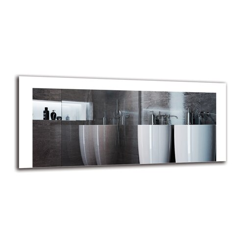 Zarmig Bathroom Mirror Metro Lane Size: 40cm H x 90cm W