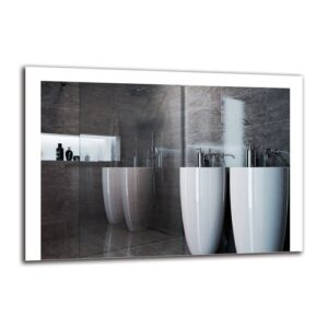 Zarmig Bathroom Mirror Metro Lane Size: 70cm H x 100cm W