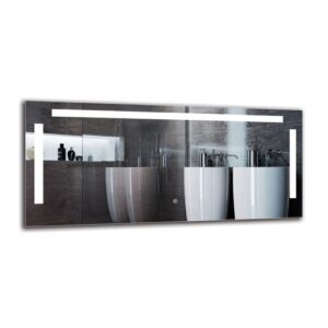 Zaven Bathroom Mirror Metro Lane Size: 50cm H x 110cm W