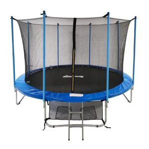 14' Backyard: Above Ground Trampoline with Safety Enclosure GALACTICA