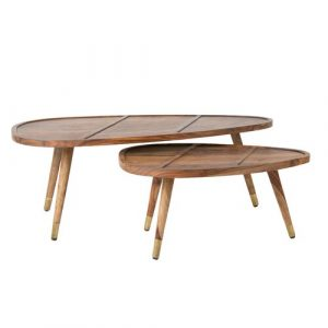 2 Piece Coffee Table Set Dutchbone