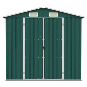 7 ft. W x 4 ft. D Metal Garden Shed WFX Utility Colour: Green
