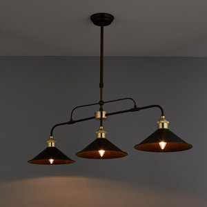 Alfie Bronze effect 3 Lamp Pendant Ceiling light