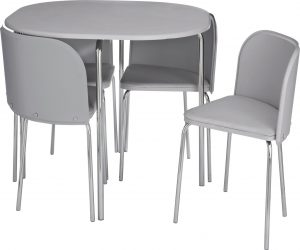 Argos Home Amparo Grey Dining Table & 4 Grey Chairs