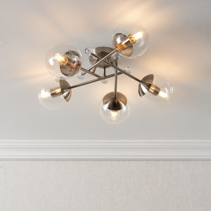 Axis Nickel effect 5 Lamp Ceiling light