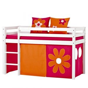 Basic Mid Sleeper Bed with Indian Girl Curtain Hoppekids