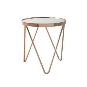 Bellamy Side Table Canora Grey Colour (Frame): Rosé