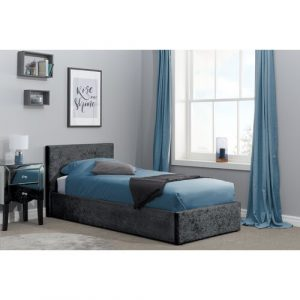 Berlin Upholstered Ottoman Bed Home & Haus Colour: Black, Size: Single (3')