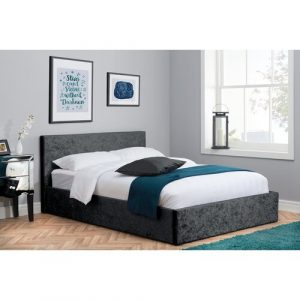 Berlin Upholstered Ottoman Bed Home & Haus Colour: Black, Size: Small Double (4')