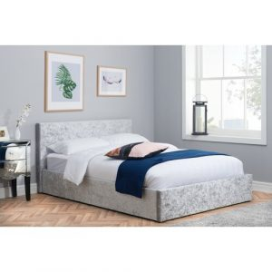 Berlin Upholstered Ottoman Bed Home & Haus Colour: Steel, Size: Kingsize (5')