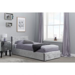Berlin Upholstered Ottoman Bed Home & Haus Colour: Steel, Size: Single (3')