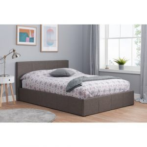 Berlin Upholstered Ottoman Bed Home & Haus Size: Kingsize (5')