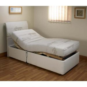 Bluebell Upholstered Adjustable Bed House Additions Size: Small Single (2'6), Storage: 2 Side Drawer Left Side