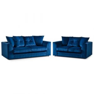 Bost Sofa Set Canora Grey Upholstery Colour: Blue
