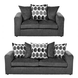Buford 2 Piece Sofa Set ClassicLiving Upholstery: Dark Grey