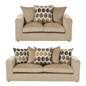 Buford 2 Piece Sofa Set ClassicLiving Upholstery: Taupe