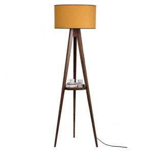 Bynoe 153cm Tray Table Floor Lamp Ebern Designs Shade Colour: Mustard