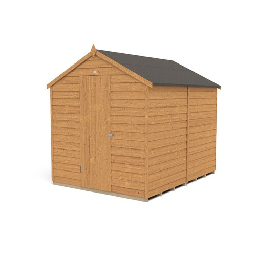 Checketts 6 ft. W x 8 ft. D Solid Wood Garden Shed Dakota Fields