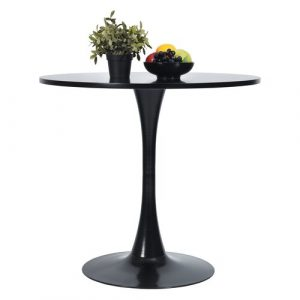 Clift Dining Table Furnish1 Colour: Black