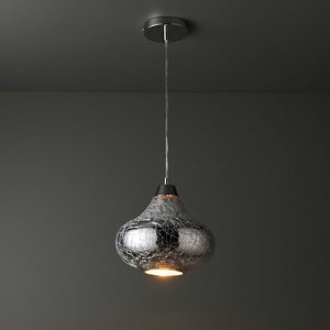 Crackle Pendant Chrome effect Ceiling light
