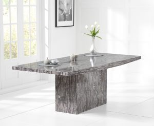 Crema 180cm Grey Marble Dining Table