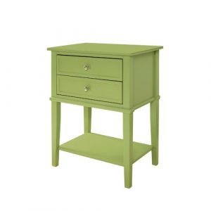 Demartino Side Table with Storage Beachcrest Home Colour: Green