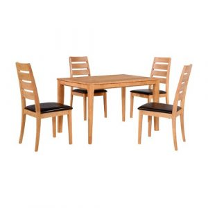 Dining Set with 4 Chairs Home & Haus