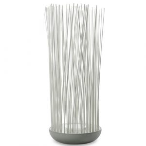 Don't Touch White Plug-In LED Outdoor Floor Lamp Karman