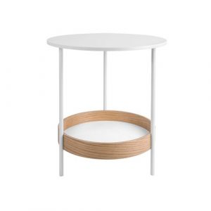 Dual Side Table Leitmotiv Colour: White