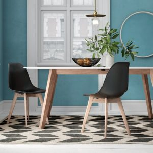 Elementary Dining Chair (Set of 2) Leitmotiv Colour: Black