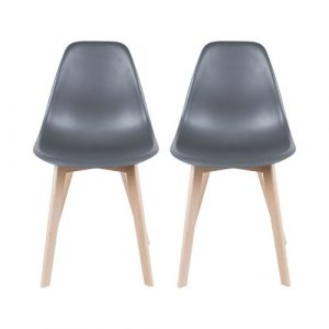Elementary Dining Chair (Set of 2) Leitmotiv Colour: Grey