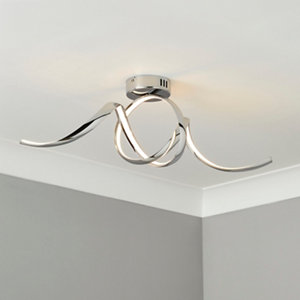 Equinox Chrome effect Ceiling light