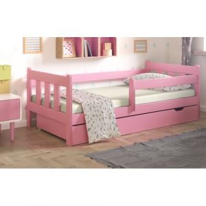 European Toddle Cabin Bed with Drawer Nordville Bed Size: European Toddler (80 x 180 cm), Farbe (Bettgestell): Pink