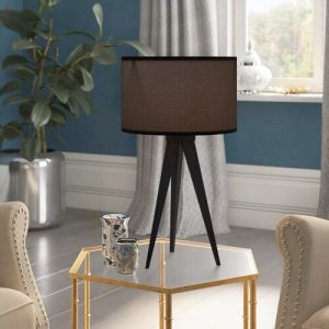 Finsbury 51cm Tripod Table Lamp Latitude Run Finish: Black