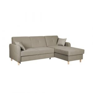 Fire Corner Sofa Bed Home & Haus Orientation: Right Hand Facing, Upholstery Colour: Beige