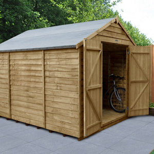 Forest Garden 10x8 Apex Overlap Wooden Shed - Assembly service included