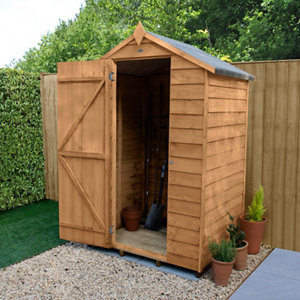 Forest Garden 4x3 Apex Overlap Wooden Shed - Assembly service included
