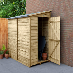 Forest Garden 6x3 Pent Overlap Wooden Shed - Assembly service included