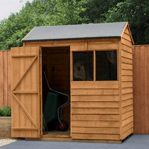 Forest Garden 6x4 Reverse apex Overlap Wooden Shed - Assembly service included