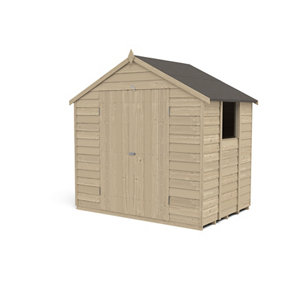 Forest Garden 7x5 Apex Overlap Wooden Shed - Assembly service included