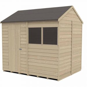Forest Garden Forest Olap Press Treat 8x6 RVApex Shed Reverse Apex Shed Wood