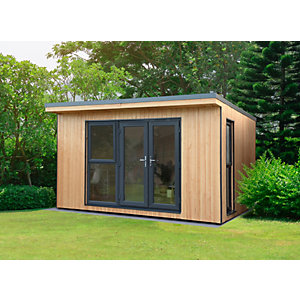 Forest Garden Xtend 4 x 3.42m Insulated Garden Office with 1/2 Window including Installation