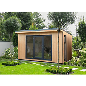Forest Garden Xtend 4 x 3.42m Insulated Garden Office with 1/4 Window including Installation