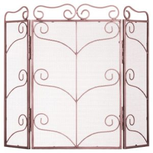 Frick 4 Panel Steel Fireplace Screen Astoria Grand