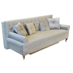 Glamour 3 Seater Fold Out Sofa Bed Happy Barok Upholstery Colour: Beige