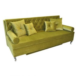 Glamour 3 Seater Fold Out Sofa Bed Happy Barok Upholstery Colour: Green